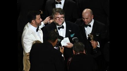 Al momento de recibir su premio, Guillermo del Toro comprobó que efectivamente su nombre y el de