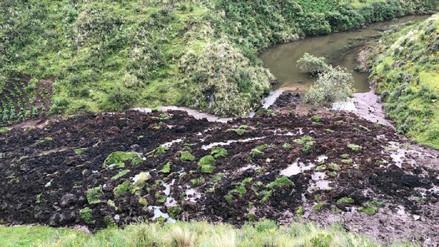 Distrito de Poroy en peligro por deslizamiento y embalse de río