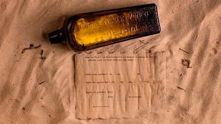 Hallan el mensaje en botella más antiguo del mundo en Australia