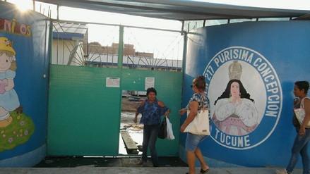 Colegio Purísima de Túcume permaneció inundado durante seis días