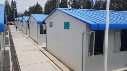 Más de tres mil escolares de Huancayo seguirán estudiando en aulas prefabricadas