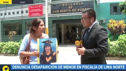 Madre denunció la desaparición de su hija de 15 años en Lima Norte
