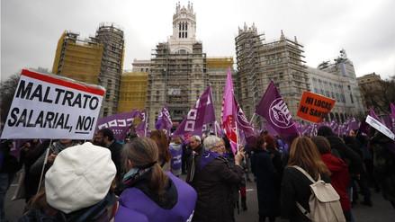 España vive su primera huelga feminista en el Día Internacional de la Mujer