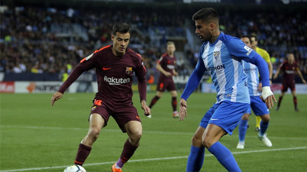 De la mano de Luis Suárez, Barcelona derrotó 2-0 al Málaga y sigue como líder