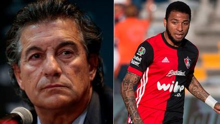 DT del Atlas tuvo fuertes palabras contra Alexi Gómez