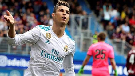 Real Madrid venció 2-1 en su visita al Eibar con doblete de Cristiano Ronaldo