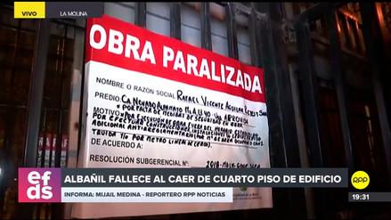 Un albañil falleció tras caer del cuarto piso de un edificio en La Molina