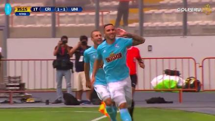 ¡Pase y definición! Emanuel Herrera anotó el empate de Cristal ante la 'U'