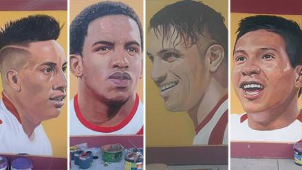 Hincha se lució con murales de los jugadores de la Selección Peruana