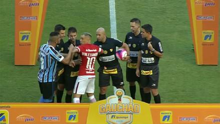 D'Alessandro se peleó con el capitán de Gremio antes de iniciar el partido