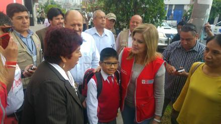 Mercedes Aráoz inauguró el año escolar en colegio Eduardo López de Romaña