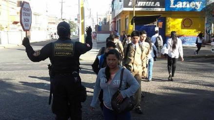 Ejército y serenazgo se suman a brindar seguridad a escolares en Arequipa