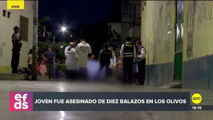 Un hombre fue asesinado de 10 balazos en Los Olivos