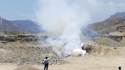 Incineran cuatro toneladas de pirotécnicos cuyo valor supera los 200 mil