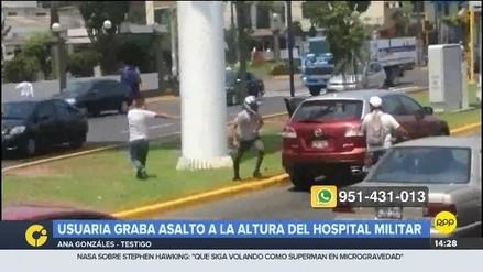 Una ciudadana grabó el asalto a una camioneta en Magdalena
