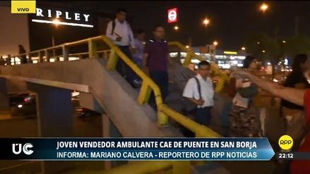 Un ambulante cayó de un puente en San Borja tras ser perseguido por serenos