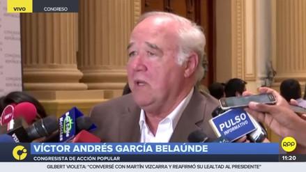 """García Belaúnde: """"Los ministros deberían irse antes de la vacancia"""""""