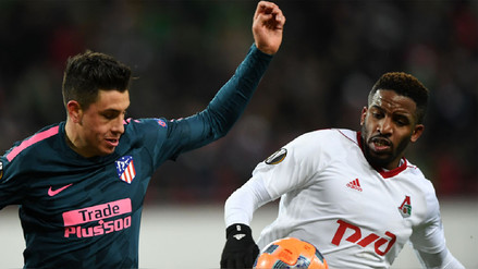 Con Jefferson Farfán en cancha, Lokomotiv cayó goleado ante Atlético de Madrid