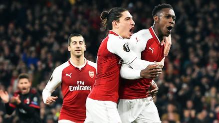 Arsenal avanzó en la Europa League tras vencer al Milan en Londres