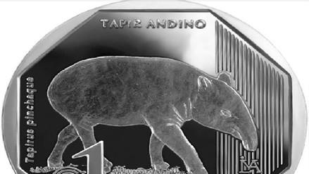 BCR emite nueva moneda de S/1 alusiva al Tapir Andino