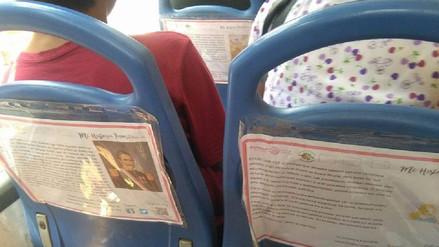 Educan a pasajeros de microbuses con textos sobre historia del Perú