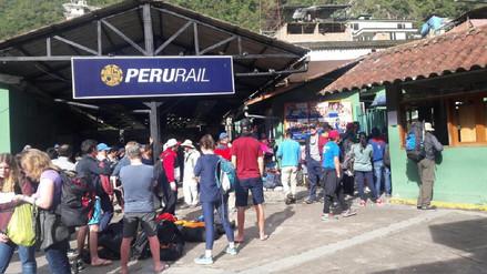 Servicio de trenes a Machu Picchu nuevamente fue suspendido