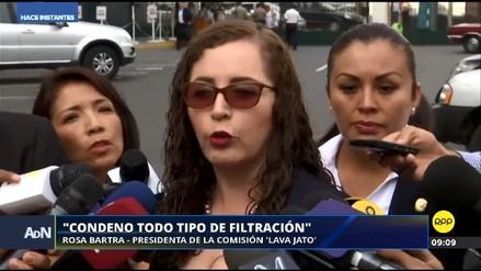 Rosa Bartra negó que la comisión Lava Jato haya filtrado documentos sobre PPK