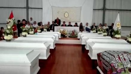 Entregan restos de 27 víctimas del terrorismo en Huánuco