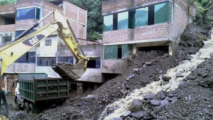 Sandia: realizan trabajos de limpieza en zona afectada por huaico