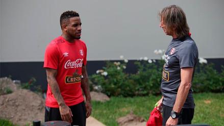 Jefferson Farfán estuvo presente en los entrenamientos de la Selección Peruana