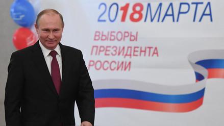 Putin reelecto con más del 70% de los votos, según primeros resultados oficiales