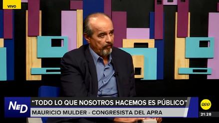 Mulder dijo que el Apra no presentará candidato para la Alcaldía de Lima
