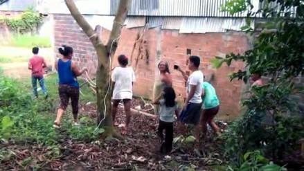 Vecinos hallan a bebé enterrado cerca de una vivienda en Yurimaguas