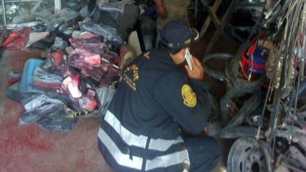 Policía decomisa autopartes robadas por un monto de 20 mil soles