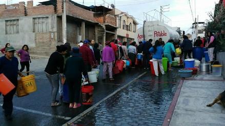 Suspendieron servicio de agua en tres distritos de Arequipa