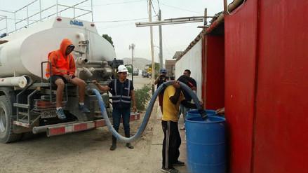 Restablecen servicio de agua en distritos afectados con rotura de tubería