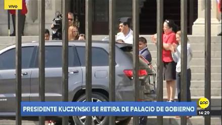 PPK se retiró de Palacio de Gobierno en medio de la crisis política