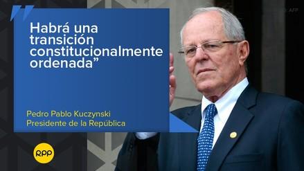 Estas fueron las frases de la renuncia de Pedro Pablo Kuczynski a la Presidencia