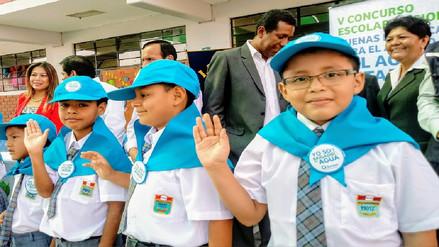 Niños de Chiclayo juramentaron como 'Brigadieres del Agua'