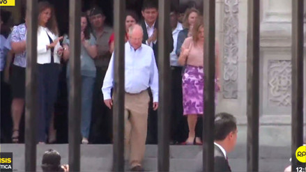 PPK volvió a Palacio de Gobierno luego de presentar su renuncia