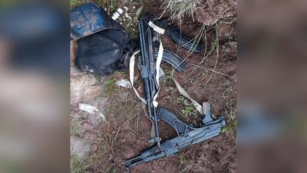 Recuperan armas de guerra y capturan a un presunto narcotraficante en el Vraem