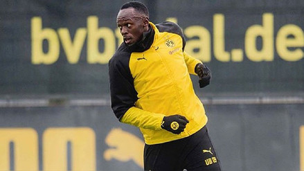 Mira el primer gol de Usain Bolt en las prácticas del Borussia Dortmund