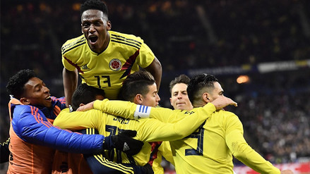 Colombia sacó el partido a cuestas y venció 3-2 a Francia en su propia casa