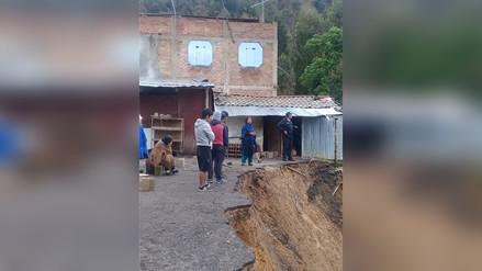 Deslizamiento provocó que tres viviendas colapsaran en Porcón