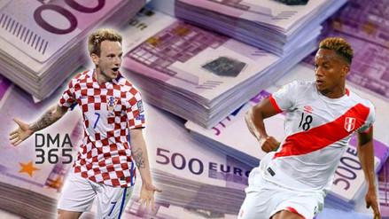Perú vs. Croacia: los jugadores más caros de cada selección