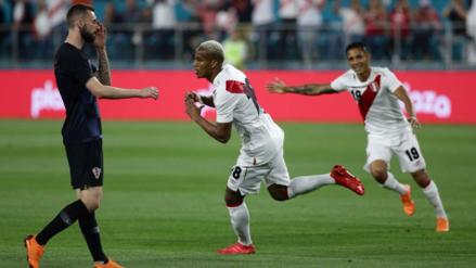 André Carrillo anotó el primer tanto de Perú ante Croacia en Miami