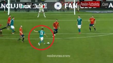 Impresionante golazo de Thomas Müller en el Alemania vs. España