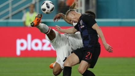 Video | Jefferson Farfán casi anota de tijera en amistoso ante Croacia