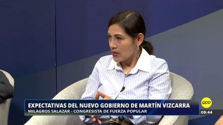 """Milagros Salazar: """"El Ejecutivo y el Legislativo tenemos que hacer un mea culpa"""""""