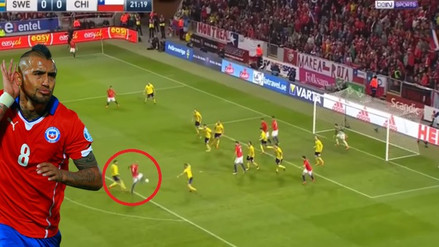 Chile ganó a Suecia con golazo de Arturo Vidal desde larga distancia